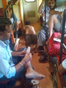 Child Cleaning Floor in Indian Railways Train